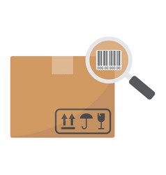 tracking parcel flat icon logistic and delivery vector image