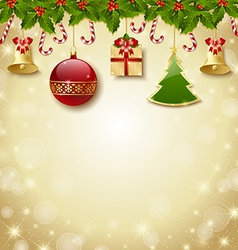 traditional christmas decoration vector image