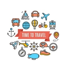Travel Concept Card vector image