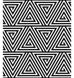 Triangles Black and White Abstract Seamless vector image