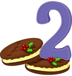 Two christmas cookies vector