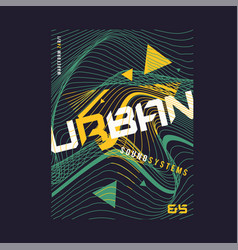 Urban waves expressive geometric t-shirt vector
