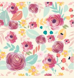 vintage purple spring summer flower seamless vector image