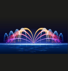 Water lights fountain vector