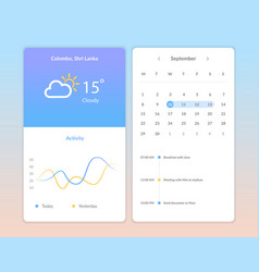 weather application screens vector image