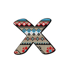 x letter small vector image