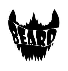 beard shirt design vector image vector image