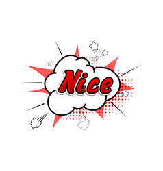 comic collection word nice 3d colored sound chat vector image