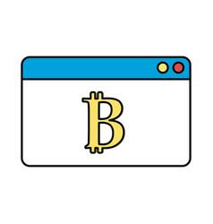Digital window website data information vector