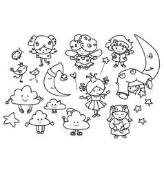 angels cartoons vector image vector image