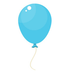 blue balloon icon vector image
