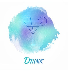 Drink Alcohol Cocktail Watercolor Concept vector image vector image