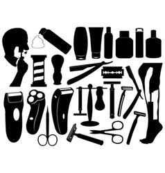 shaving tools set vector image vector image