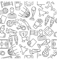 soccer seamless pattern vector image vector image