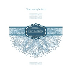 Winter card with lace vector image