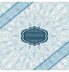 Beautiful blue invitation card vector image vector image
