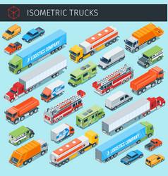 cargo trukcs set 2 vector image vector image