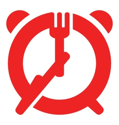 Dinner time sign vector image vector image