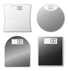 electronic scales vector image vector image
