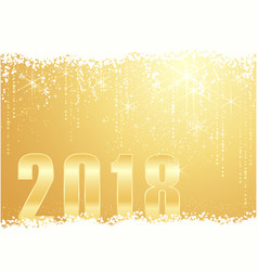 golden happy new year 2018 background vector image vector image