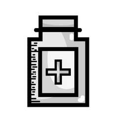 grayscale ointment medical cream to treatment vector image vector image