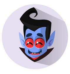 happy cartoon vampire head icon vector image