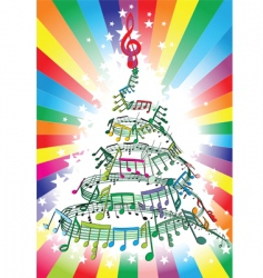 new year music notes vector image vector image