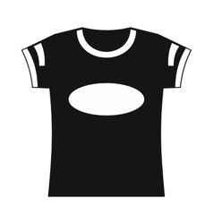 Black t-shirt template icon simple style vector image vector image