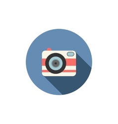 Camera icon Long shadow design vector image vector image
