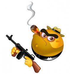 gangster emoticon vector image
