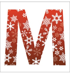 M Letter vector image vector image