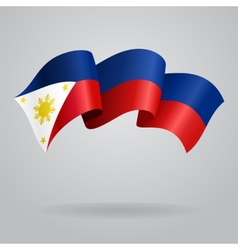Philippines waving Flag vector image vector image
