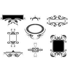 Set of vintage frames and borders vector image