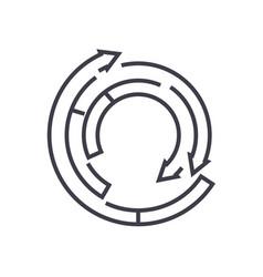 spiral diagram line icon sign vector image vector image