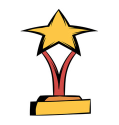 star award icon cartoon vector image