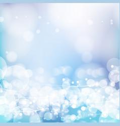 Abstract defocused bokeh lights background vector