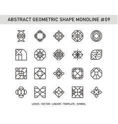 abstract geometric shape monoline 09 vector image