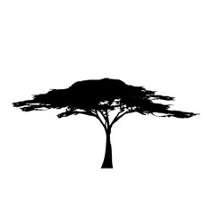 african tropical tree logo icon black and white vector image