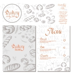 Bakery corporate identity Bakery shop set vector image