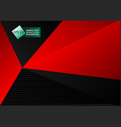 black and red color abstract geometric vector image