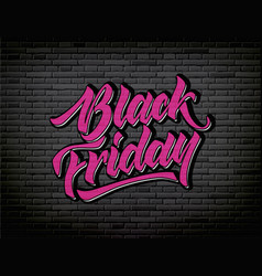 black friday lettering hand drawn ink brush vector image