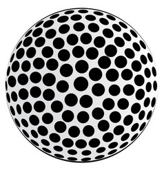 Black spotted ball background vector