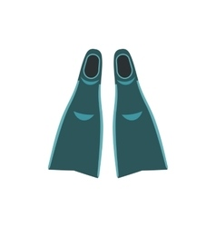 Blue flippers icon vector