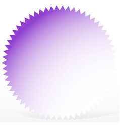 Bright badge starburst shape with only 1 color vector