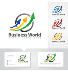 business arrow up logo designs vector image