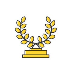 Business gold medal vector
