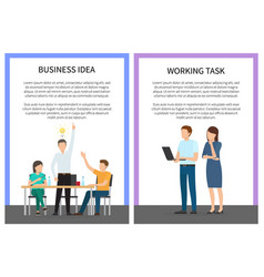 Business idea and working task vector