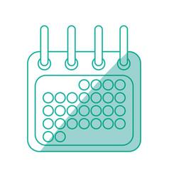 calendar draw sign vector image