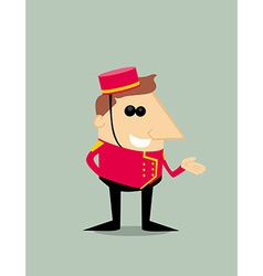 Cartoon bellboy vector image