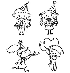 children birthday vector image